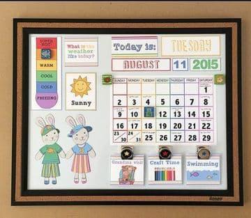 calendarios creativos para niños para colgar