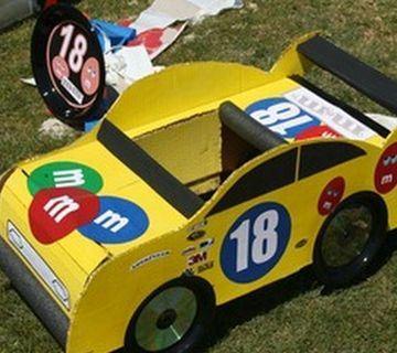 carros de reciclaje para niños pequeños