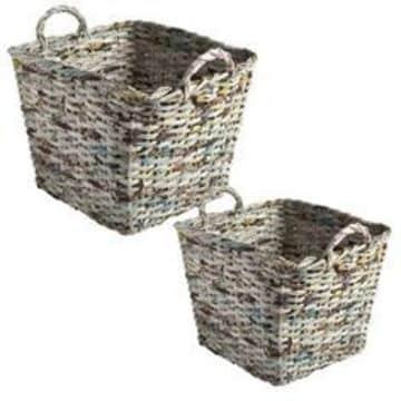 cestas de periodico cuadradas altas