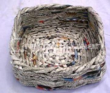 cestas de periodico cuadradas