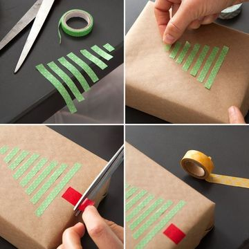 como adornar una caja de regalo para navidad