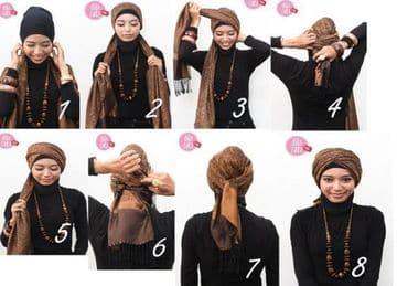como hacer un turbante arabe de aladino