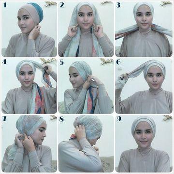 como hacer un turbante arabe mujer