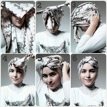 como hacer un turbante arabe pañuelo