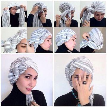como hacer un turbante arabe