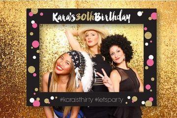 cuadros de carton para fotos cumpleaños mujeres