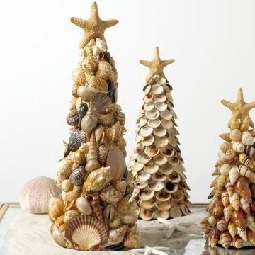 decoracion con conchas de mar para navidad