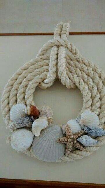 decoracion con conchas de mar