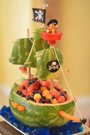 decoracion de frutas para niños para fiestas