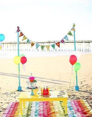 decoracion de playa para fiestas infantiles