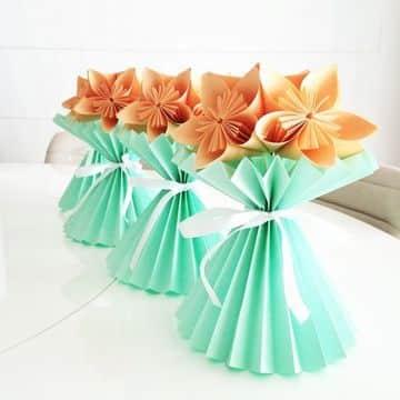 figuras con hojas de papel faciles