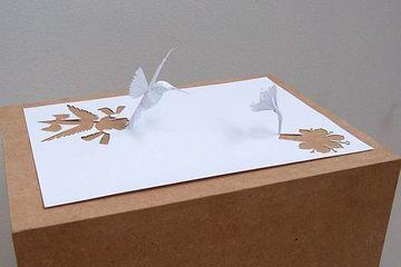 figuras con hojas de papel hermosas