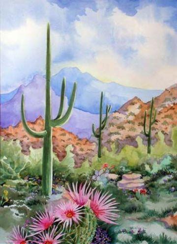 imagenes de pinturas de paisajes acuarela