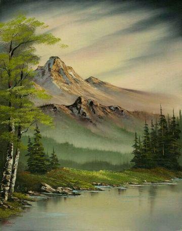 imagenes de pinturas de paisajes nublados