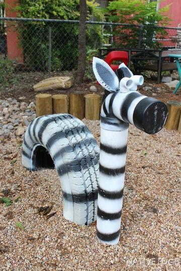 llantas decoradas de animales zebra