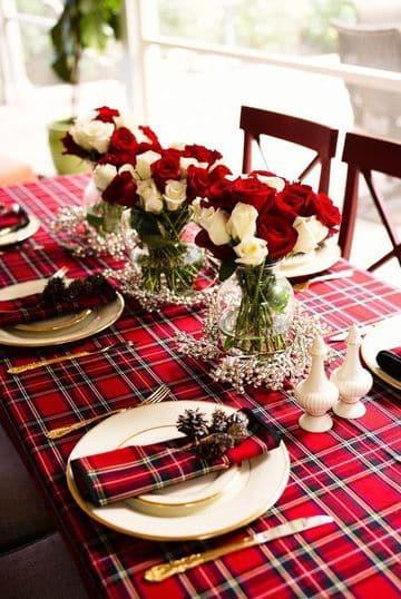 manteles para decorar mesas de navidad