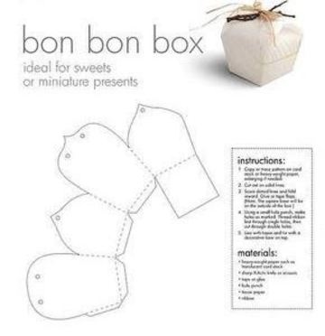 moldes de cajas para chocolates para imprimir y armar