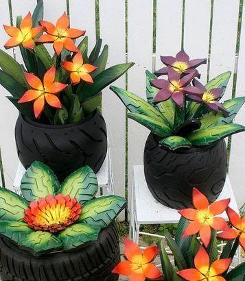 neumaticos reciclados para jardin hermosos