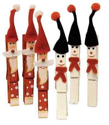 pinzas de madera decoradas para navidad