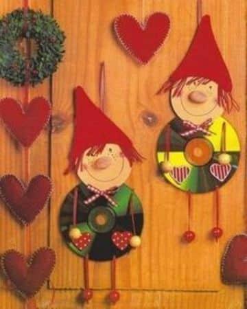 adornos navideños con cd viejos divertidos