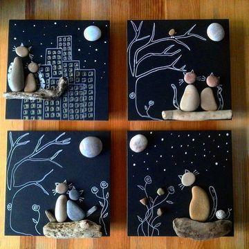 artesanias con piedras de rio para decorar