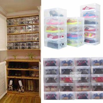 cajas transparentes para zapatos para organizar