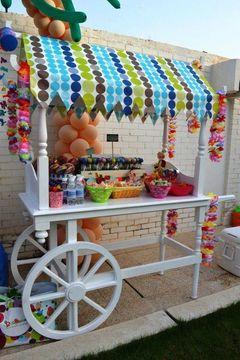 carrito de dulces para fiestas niños