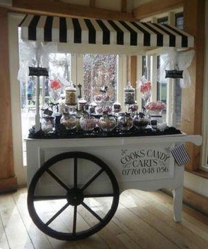 carrito de dulces para fiestas vintage