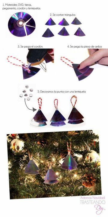 como decorar un cd para navidad de figuras