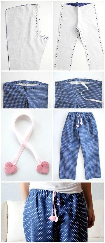 como hacer pijamas paso a paso pantalones