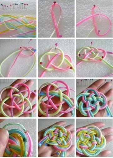 como hacer pulseras chinas colores pasteles