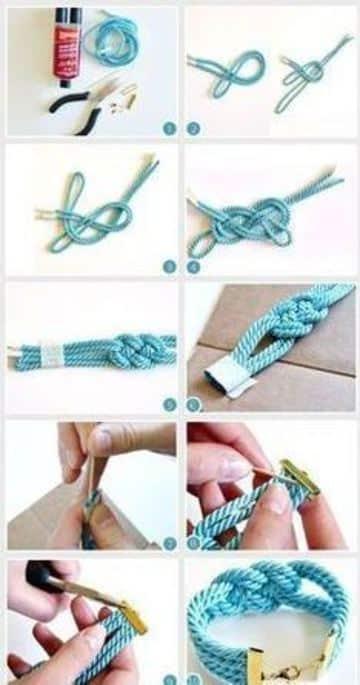 como hacer pulseras chinas de hilo
