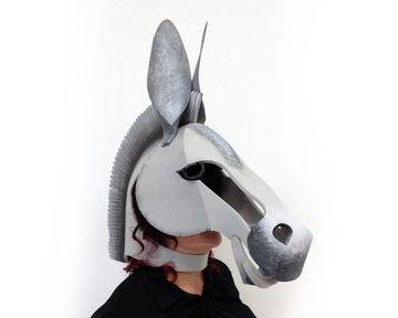 como hacer un burro de carton 3d