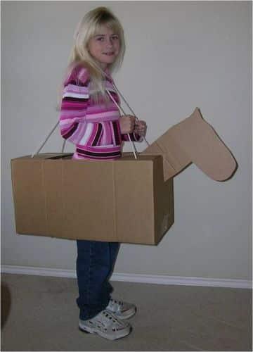como hacer un burro de carton para niños