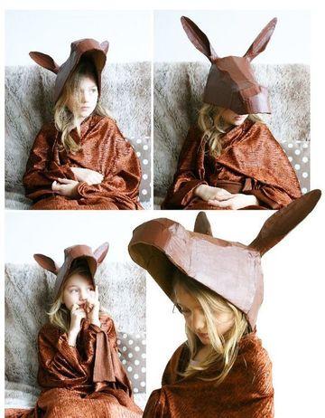 como hacer un burro de carton tipo mascara