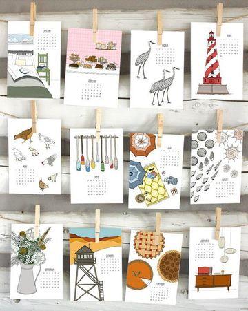 como hacer un calendario a mano creativo