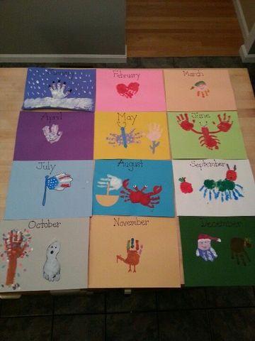 como hacer un calendario a mano para niños