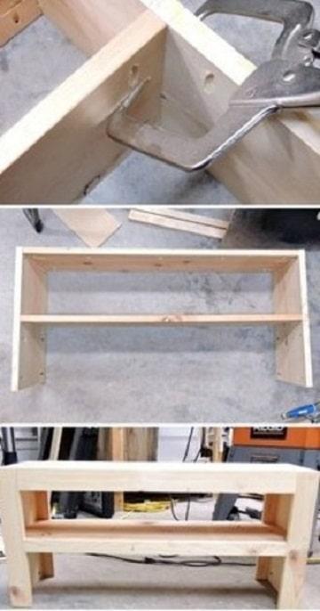 como hacer un guarda zapatos de madera