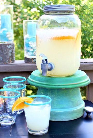 dispensador de bebidas casero para limonada