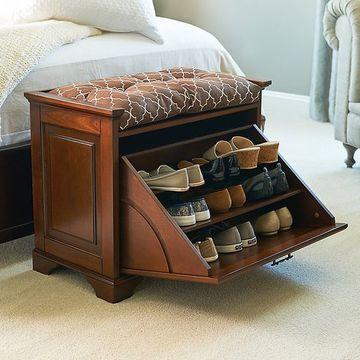 estantes para zapatos de madera clasicos