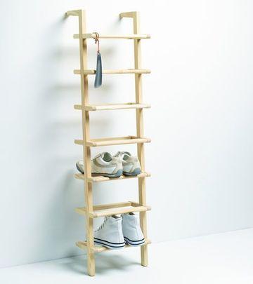 estantes para zapatos de madera sencillos