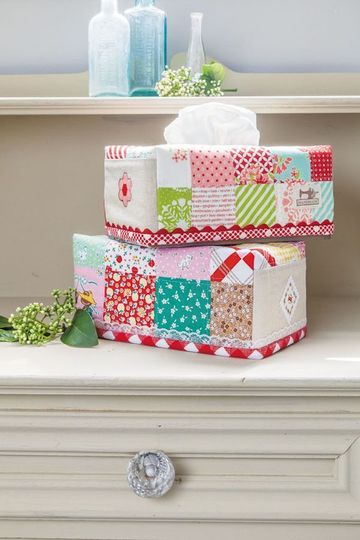 forrar cajas de carton con tela para pañuelos