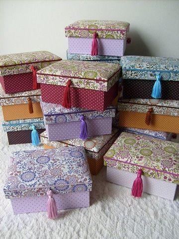 forrar cajas de carton con tela tipo cofre