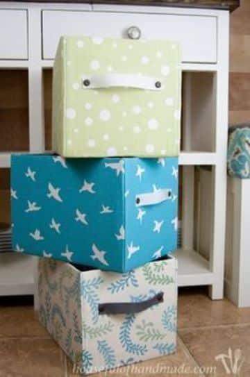forrar cajas de carton con tela utilisima