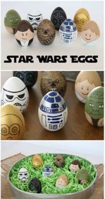 ideas para decorar huevos de pascua guerra de las galaxias