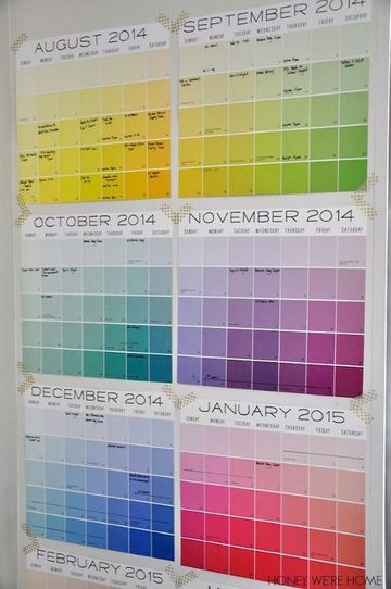 ideas para hacer un calendario con material reciclado