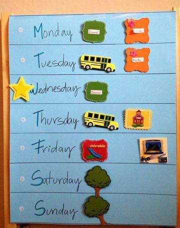 imagenes de calendarios para niños sencillo