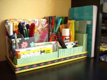 organizador de carton para escritorio economico