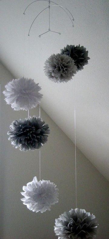 pompones de papel barrilete para decorar