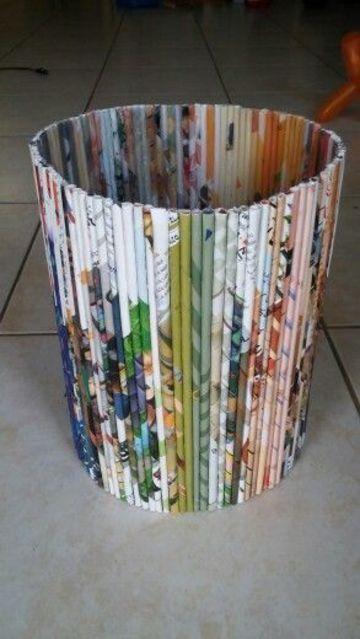 proyectos de reciclaje faciles con papel de revista